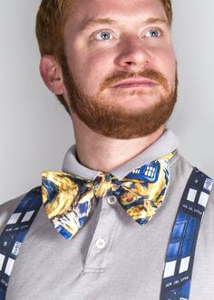Doctor Who bow tie! Complete with exploding TARDIS!