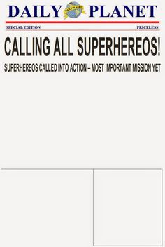 The Purple Patch: Superhero Birthday invitation template