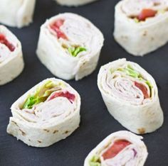 Turkey Rollups with Cranberry Cream Cheese. Now why don't I ever think of that combo when I do appies?