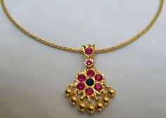 Gold Jewelry In Italy Code: 2132409061 Ruby Necklace Designs, Jewelry Design Earrings, Gold Jewellery Design, Small Earrings, Pendant Jewelry, Jewelry Necklaces, Gold Necklace Simple, Gold Jewelry Simple, Silver Jewelry