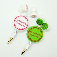 #retractableearbuds  with printed logo for #brandpromotion