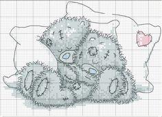 мишки тедди спят. вышивка