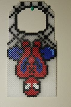 Perler beads Spiderman Doorknob hanger