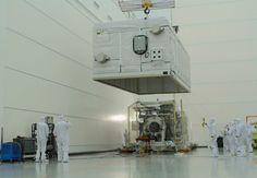 GOES-R satellite in clean room