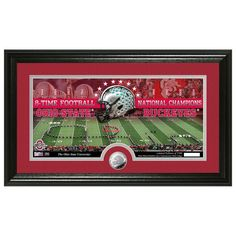 Ohio State Buckeyes 8-Time Football National Champions Minted Coin Panoramic Photo Mint - $59.99