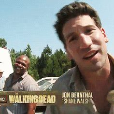 Here, have a kiss from Shane. The lovely Jon Bernthal.
