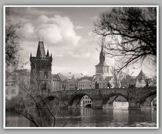 Black And White Prague Photography Charles by WPThayerPhotography, $25.00