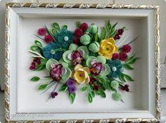 Картина панно рисунок День рождения Квиллинг Буйство красок или опять они  любимые орхидеи Бумажные полосы фото 4