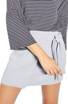 Topshop Wrap Miniskirt available at New Trends, Casual Shorts, Short Dresses, Topshop, Mini Skirts, Nordstrom, Clothes For Women, Shopping, Style
