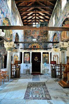 Church of Agia Theodora, Arta, Greece Byzantine Architecture, Greece Pictures, Vintage Menu, Thessaloniki, Romanesque, Kirchen, Religious Art, Capital City, Roman Empire