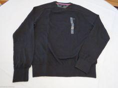 Men's Tommy Hilfiger long sleeve sweater shirt 7842269 CS Deep Knit Black 012 L