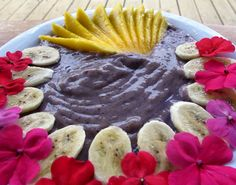 """Masterpiece fruit spoothie with wild blueberry, banana, mango and coconut from """"Food to Live For!"""" by Eric Rivkin, available for purchase at www.vivalaraw.org #lowfatrawvegan #recipes #vegan #rawfood"""