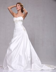 #W73 Organza A-line Beaded Embroidery Pick-ups Bridal Wedding #Gown       http://amzn.to/HFMJkj
