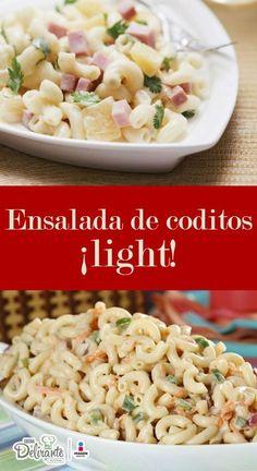 ensalada de coditos light | CocinaDelirante