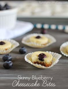Skinny Blueberry Cheesecake Bites