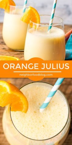 This Orange Julius is my favorite refreshing summer drink! It's made with 5 ingredients and 5 minutes! This Orange Julius is my favorite refreshing summer drink! It's made with 5 ingredients and 5 minutes! Fruit Drinks, Smoothie Drinks, Fruit Smoothies, Yummy Drinks, Healthy Drinks, Beverages, Orange Juice Smoothie, Cold Drinks, Orange Drinks
