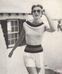 Samba Sweater • 1950s Knitting Engagement Sweater Top Jumper • 50s Vintage Vogue Pattern • 1954 Retro Women's Knit Digital PDF by TheStarShop on Etsy