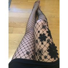 Floral Fishnet Tights ($55) ❤ liked on Polyvore featuring intimates, hosiery, tights, fishnet tights, fishnet stockings, floral stockings, fishnet hosiery and floral print tights