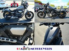 This #Yamaha Bolt R-Spec #Cruiser_Motorcycle is really awesome bike because it's low miles, Minimalist style, Modern performance, from its slim, compact bobber-style design to its raw metal look and feel, it's everything you need. And nothing you don't. Bolt R-Spec version includes special colors, piggyback shocks, cool textured-color stitched seat, black fenders (on Camo Green model), and blacked-out mirrors. Find more details at USA-Motorcycles.Net