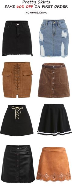 Pretty Skirts from romwe.com 2016