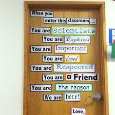 Love this, I'm not a teacher but I know kids that this would make a world of difference reading on the door before they go into class every day.
