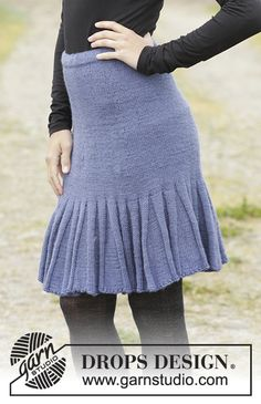 Flirty Skirty skirt with flounces by DROPS Design Free knitting pattern