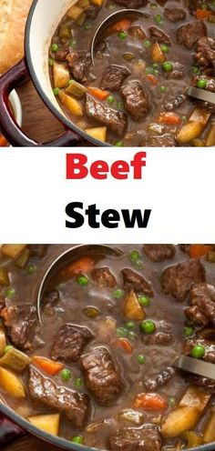 This Classic Homemade Beef Stew Recipe is the perfect comforting stew for chilly nights or Sunday dinners. This stew is filled with beef, potatoes, carrots, celery, and peas for the perfect cold weather meal... #stew #skinnyrecipe #skinny #weightwatchers #delicious #weight_watchers #beefstew #food #soups #beefstewrecipe #smartpoints #ww #healthyrecipes #dinner #recipes #kidsfood #stewrecipes #homemade #lowcarb #ketorecipes #healthy #slowcooker #eating #tasty #meals