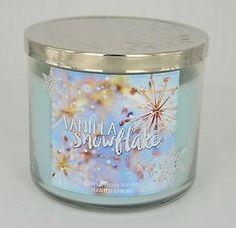 Vanilla Snowflake Grande Bougie Parfumée Bath AND Body Works Noël 3 Wick | eBay