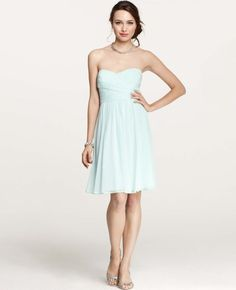 Ann Taylor Silk Georgette Sweetheart Strapless Dress $ 265 but buy one get one 50% off - so $ 200