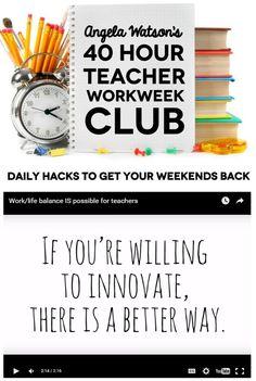 how to achieve work life balance as a teacher