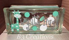 Glass Block Night Light Baby Gift by B3CreationsByMindy on Etsy