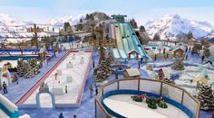 Winter Traveling theme park