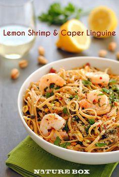 Shrimp, pistachios and fresh lemons make up this quick dinner!