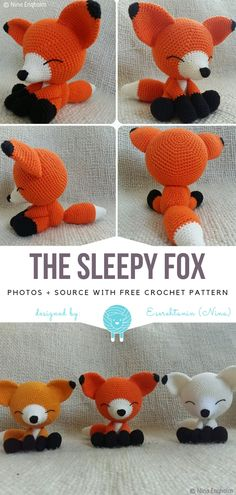 Crochet Toys Ideas The Sleepy Fox Free Crochet Pattern - Amigurumi is like magic. You can conjure every creature you can imagine and make it tangible and real. This cute fellow with big ears and sweet paws can become Crochet Pattern Free, Crochet Animal Patterns, Crochet Patterns Amigurumi, Stuffed Animal Patterns, Crochet Toddler, Crochet Baby, Easy Crochet Projects, Etsy, Rabbit Ideas