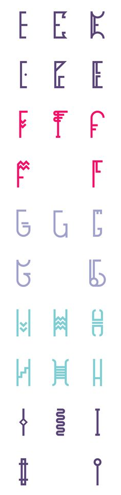 Inspired by the Greek Myth of the three giants Hecatonchires, each of them having a hundred hands and fifty heads. Has several versions of the same letter.