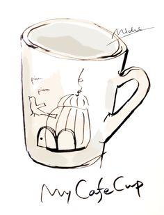 My cafe cup 小ぶりなマグカップでコーヒーブレイク