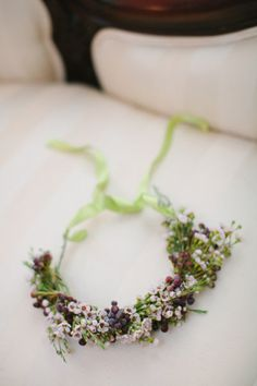 maybe a beautiful and elegant and delicate flower crown instead of a veil