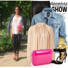 """""""Nude blouse (Polyvore)"""" by thepiehole on Polyvore"""
