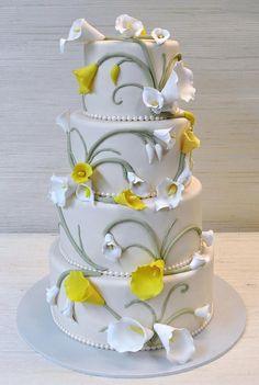 Ivory wedding cake-calla lily-The Cake Zone-Florida | Flickr - Photo Sharing!