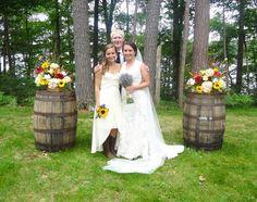 Wine barrel rustic wedding