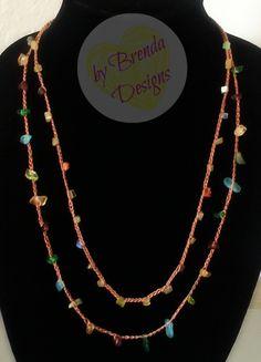 Beaded Crochet Necklace (Model: NEC-0103) - $12.00 + FREE SHIPPING