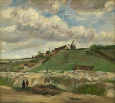 Vincent van Gogh: The hill of Montmartre with stone quarry, 1886. Oil on canvas, 32 x 41 cm. Van Gogh Museum, Amsterdam.