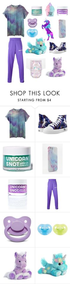 """""""Unicorns (cglre)"""" by transboyfanboy ❤ liked on Polyvore featuring FCTRY, Palm Angels and Aurora World"""