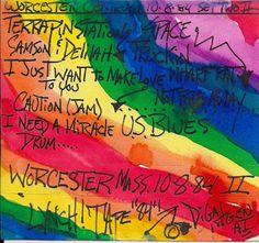 My original Grateful Dead tape case art from 10-08-1984 @ The Centrum in Worcester MA. J.Blueberries