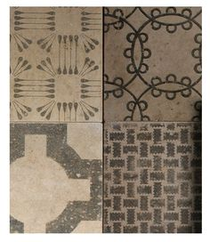 These are actually concrete tiles. Very cool.                                                                                                                                                                                 More
