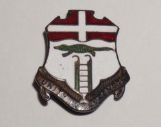 US Army 205th Armored Regiment Armor Tank crest DUI badge c//b G-23