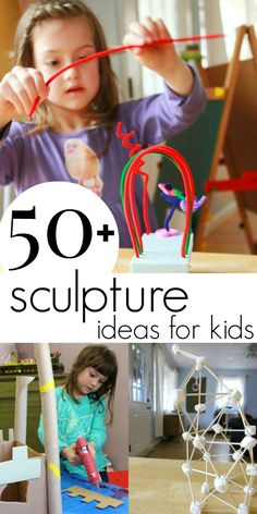 More than 50 3-D Art and Sculpture Ideas for Kids - Ideas kids love!