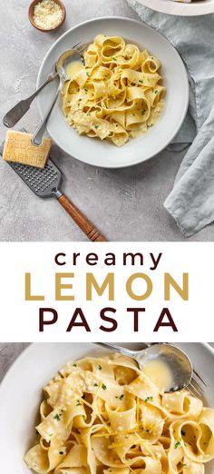 Lemon Cream Sauce Pasta, Cream Sauce Recipes, Lemon Pasta, Light Pasta Sauce, Pappardelle Pasta Recipe, Recipes With Pappardelle Noodles, Creamy Pasta Recipes, Creamy Pasta Sauces, Pot Pasta