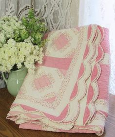 shabby pink quilt