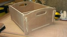 First attempt at creating a CNC routed box (8mm plywood and 4 nails)